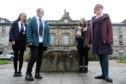 Perth Academy S5 history students  (from left) Heather Beer, Rachel Fallon, Corey Coutts and history teaher Laura Hobson, at Rose Terrace.