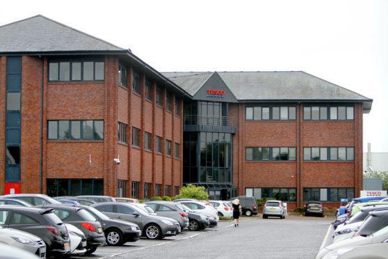 The Tesco Customer Service Centre on Baird Avenue, Dundee.