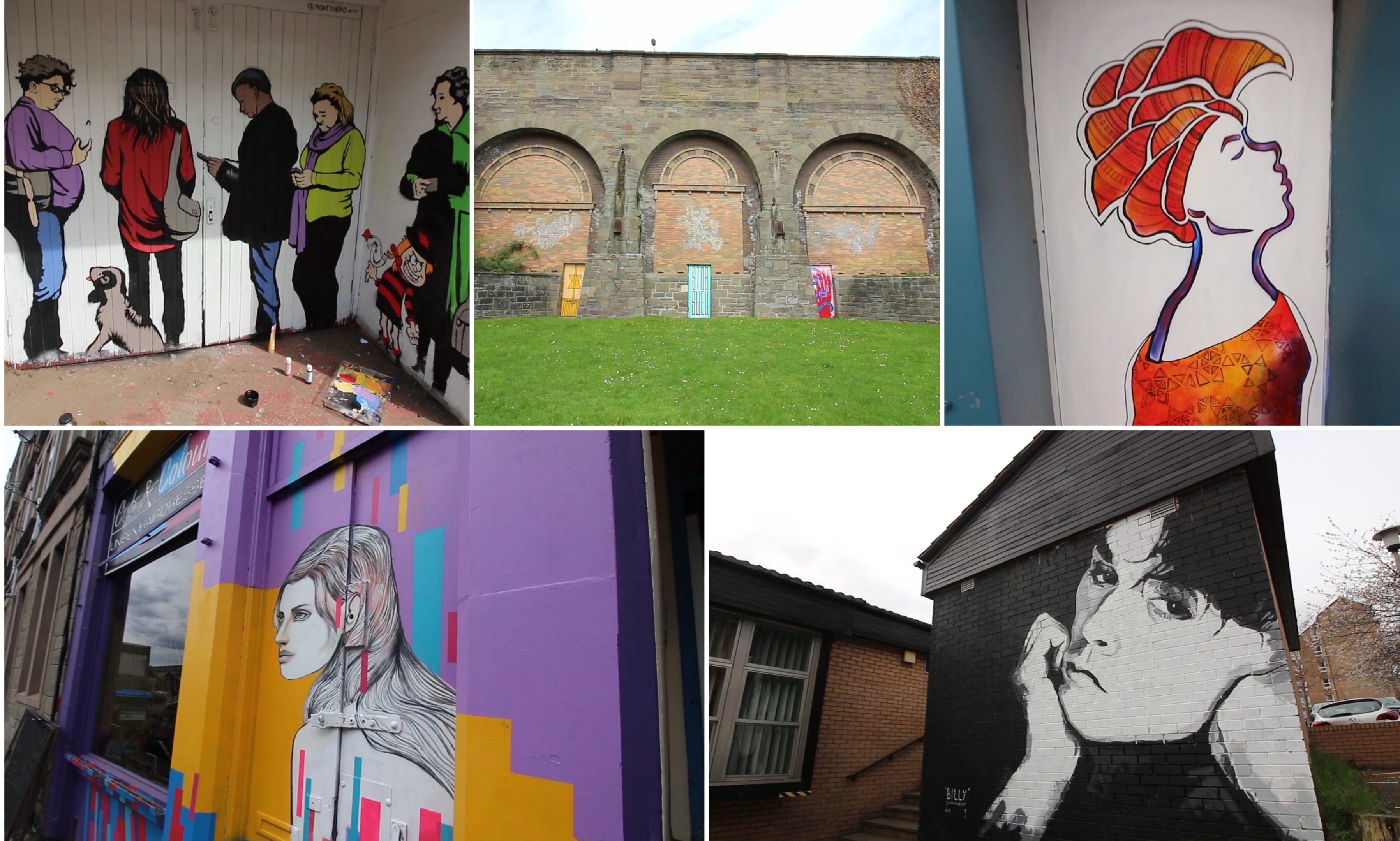 Some of the amazing murals in Stobswell