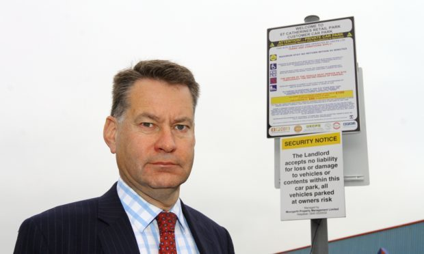 MSP Murdo Fraser at St Catherines Retail Park in Perth
