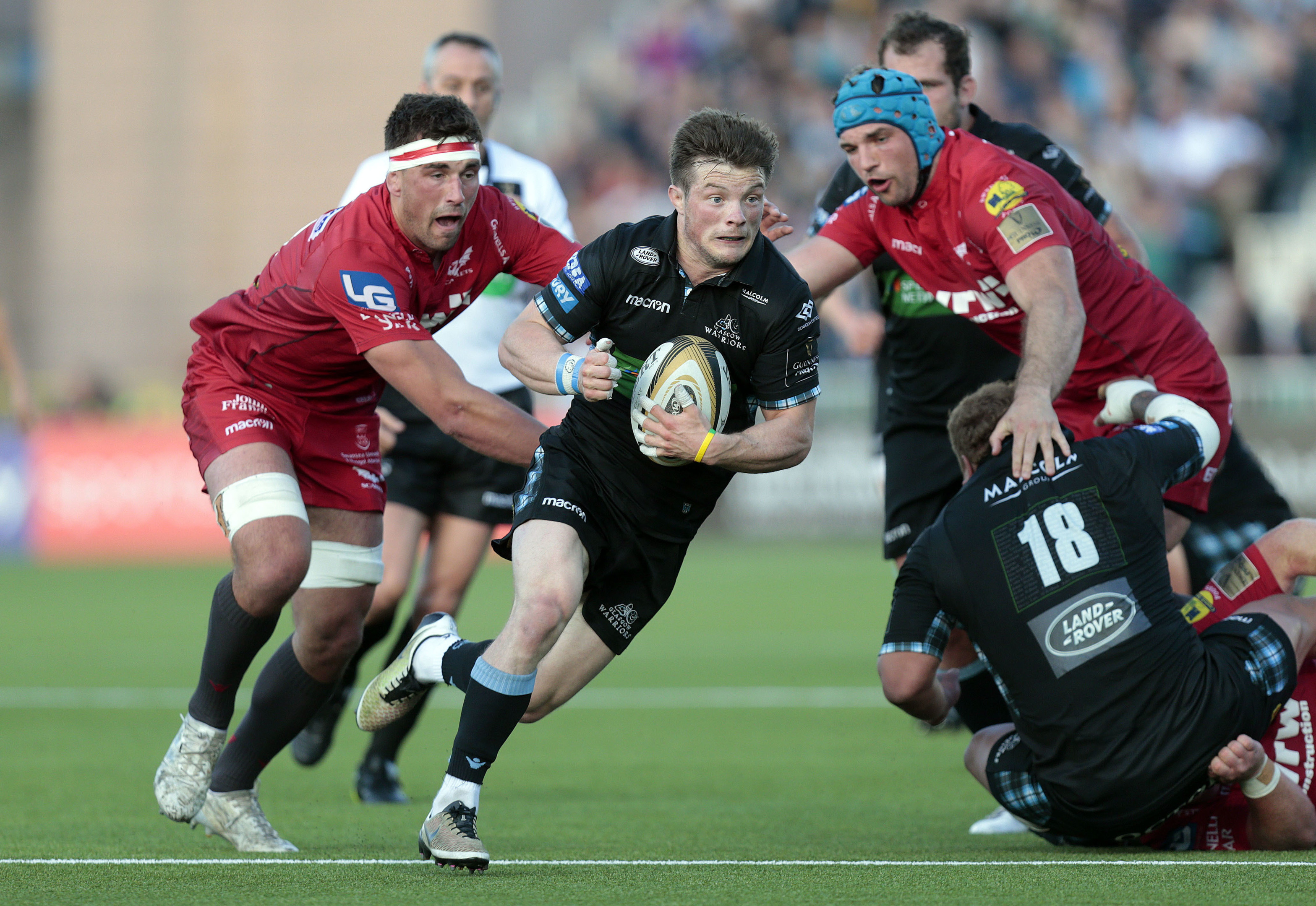 Glasgow Warriors' George Horne in action.