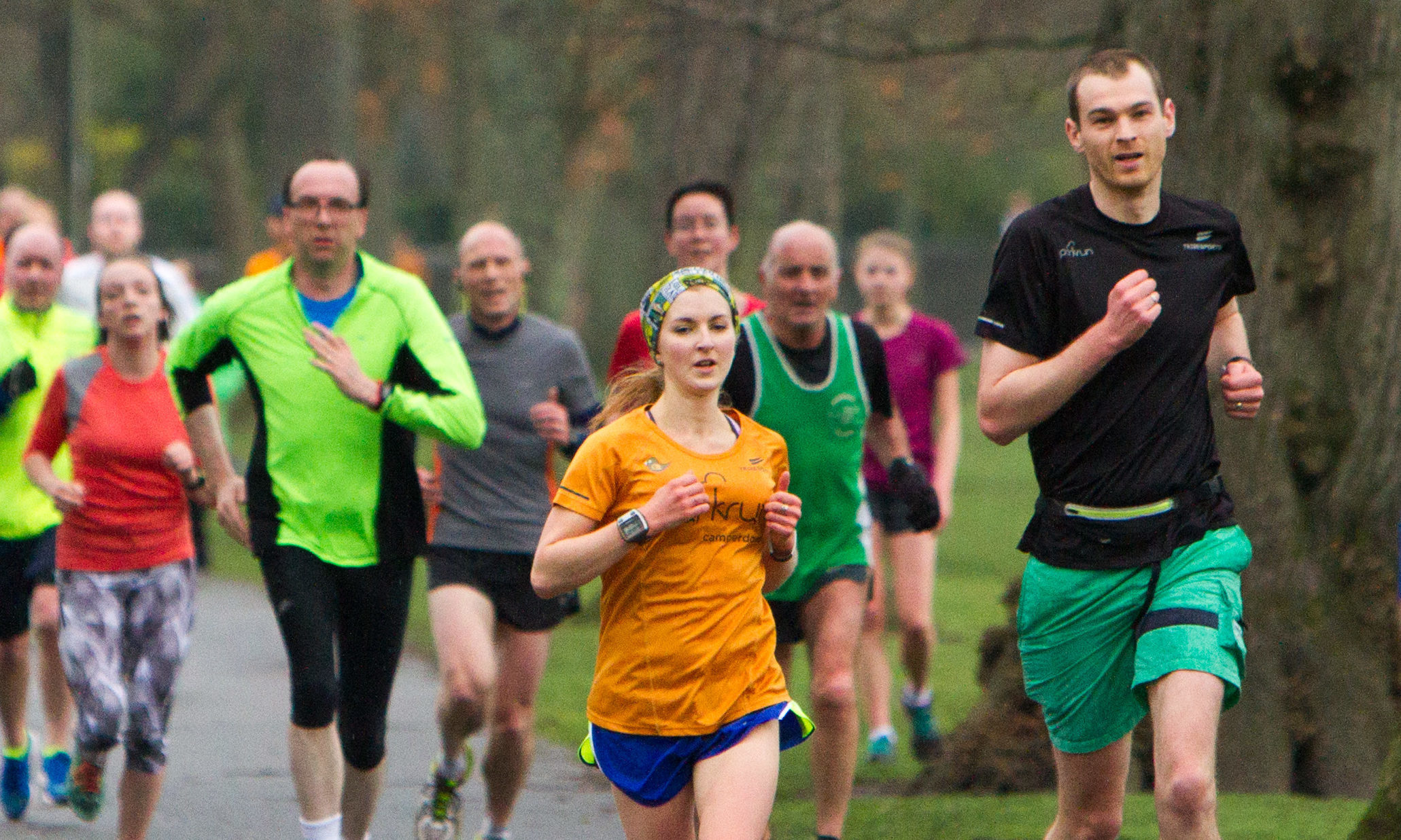 Parkrunners in Perth. Hundreds of thousands of people now join in with their local Parkrun after the free running event began in Teddington in 2014.