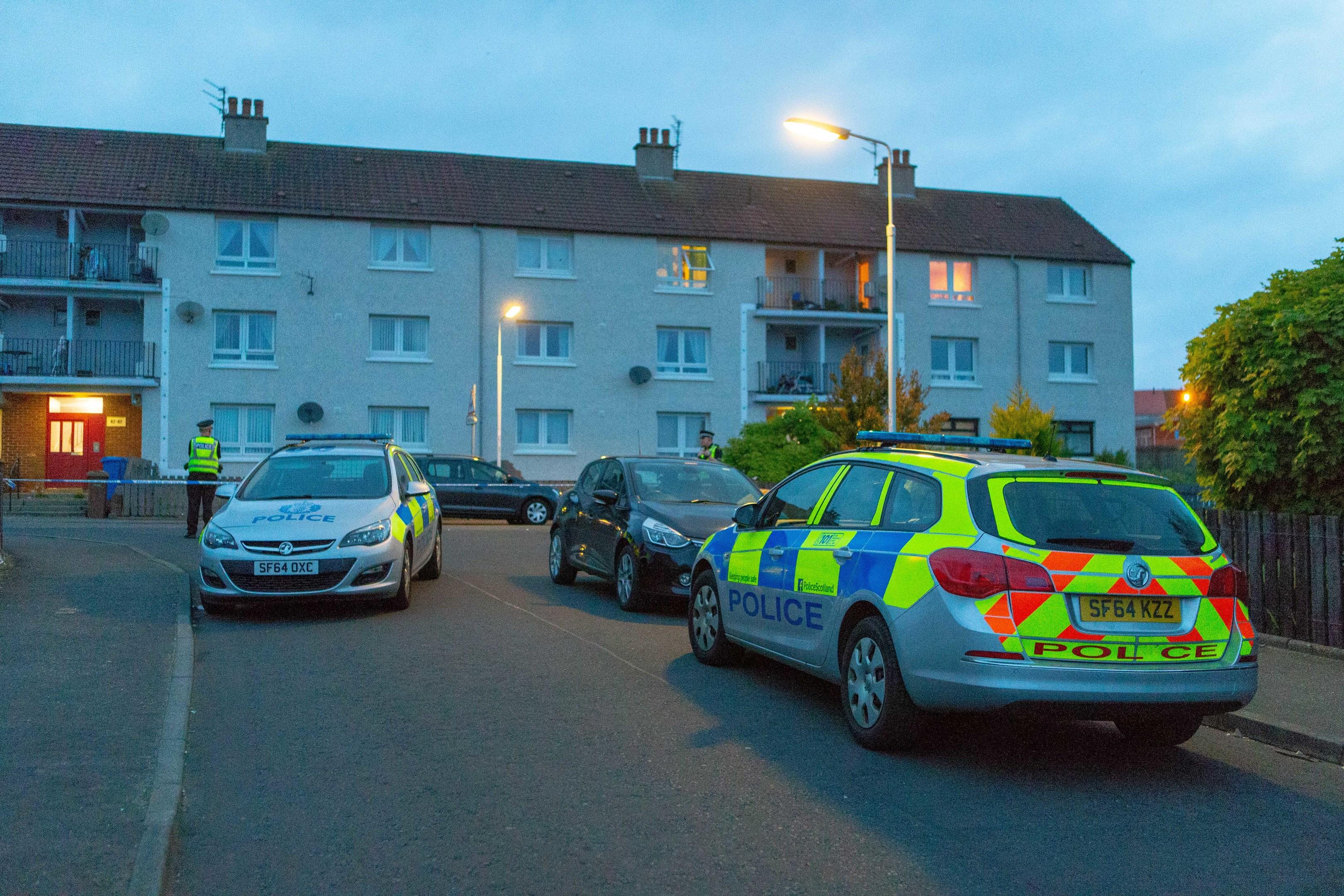 Police in Cheviot Road, Kirkcaldy.