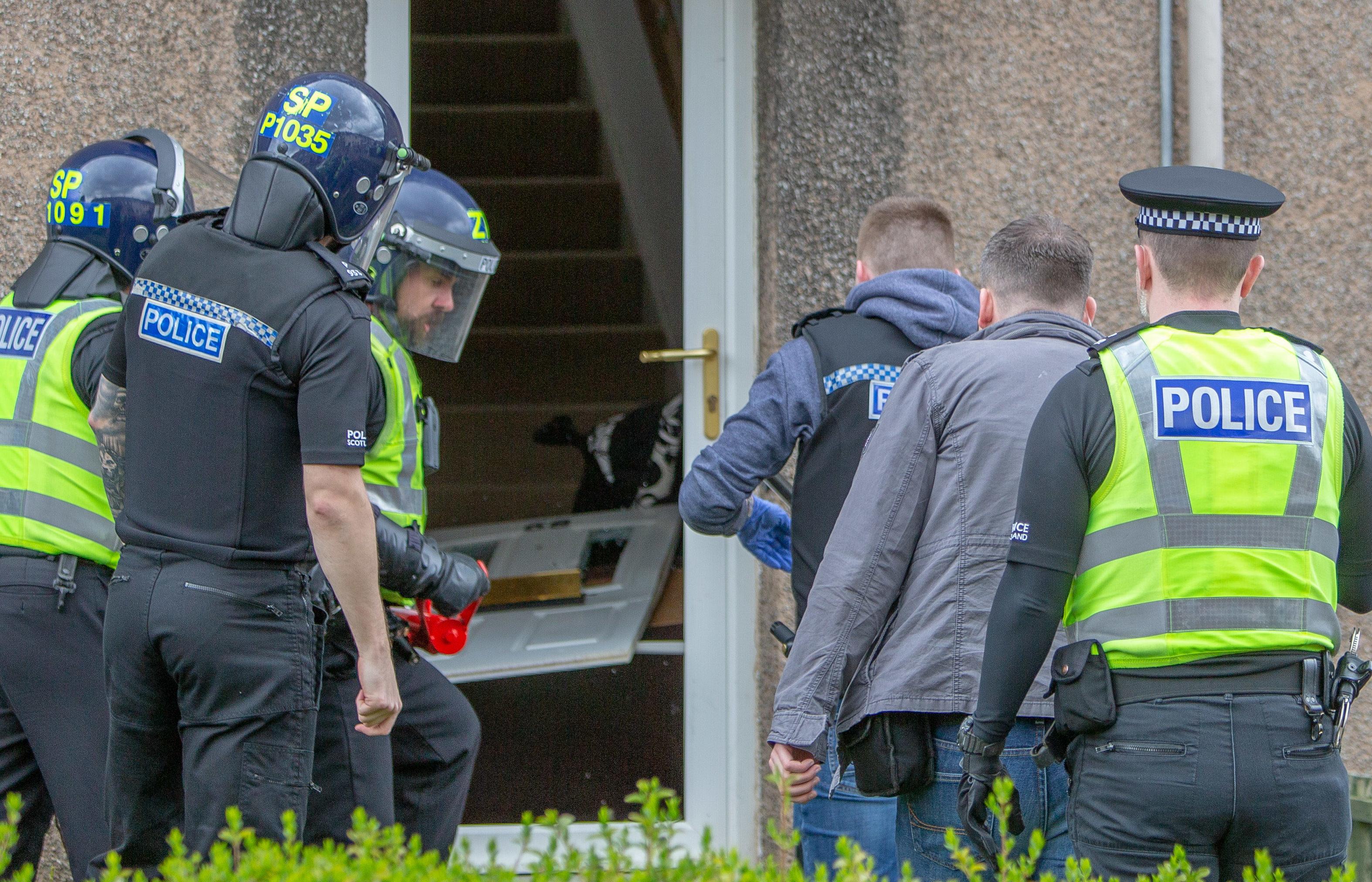 Drugs raid in Templehall, Kirkcaldy, on May 9