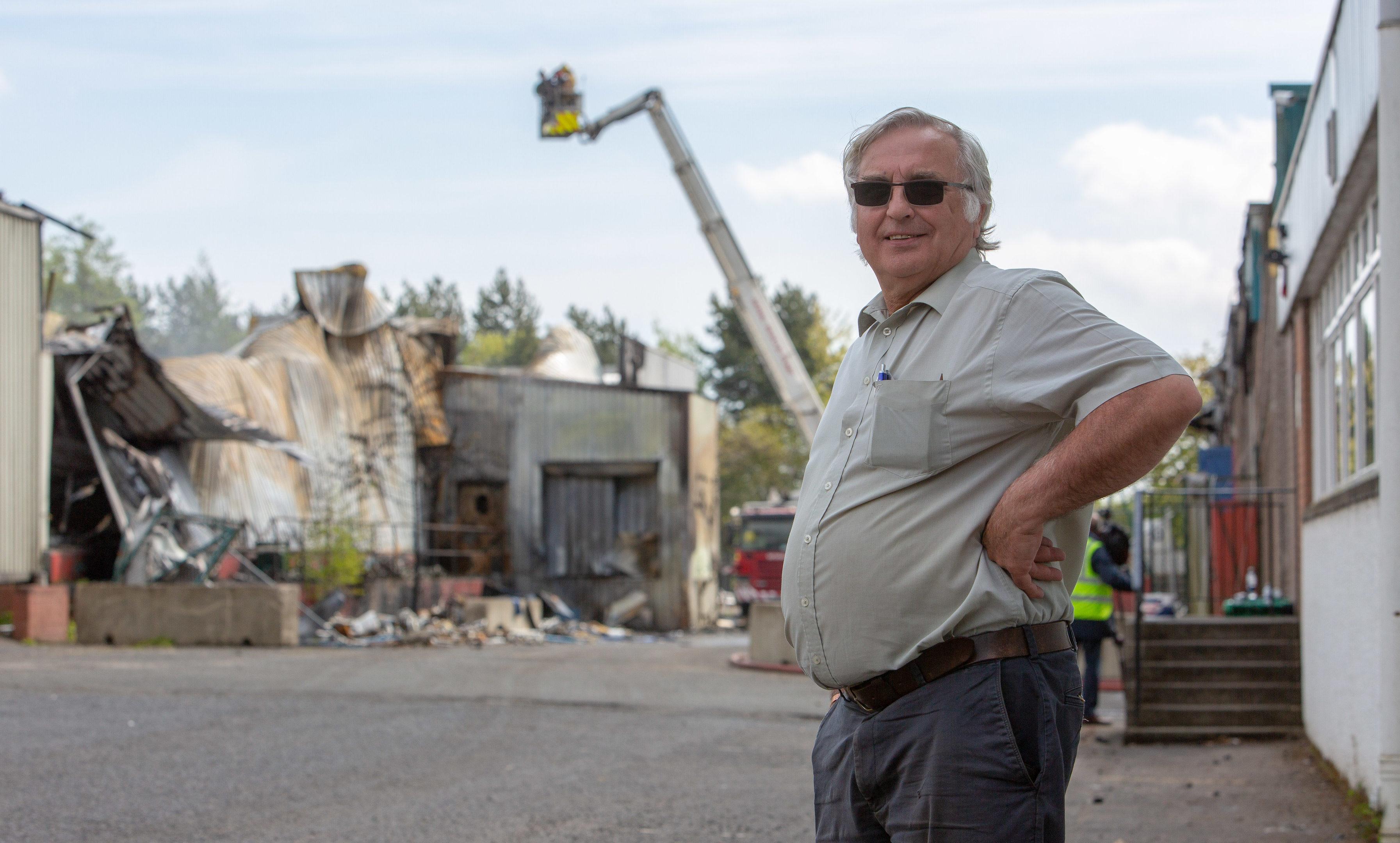 Mr Peebles surveys the devastation