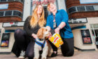Katie McCandless Thomas (left) with Baxter and Cathy Moran, general manager of Perth Playhouse.