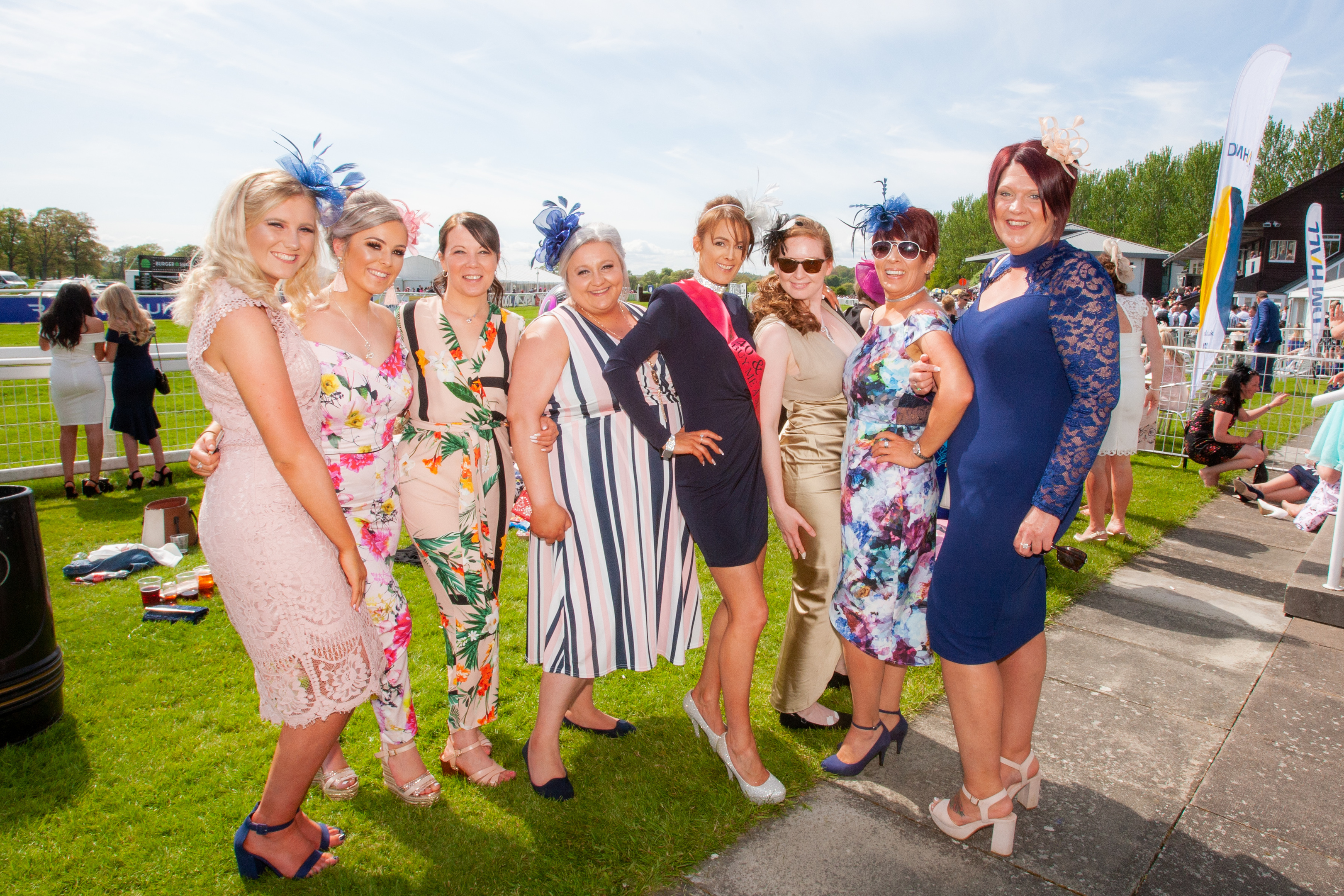 Alexandra Christie, Shannon McCrae, Gayle McDonald, Gemma Brown, Carrie Welch (birthday girl), Lynsey Winchester, Cath Young and Pam Whyte (all from Perth).