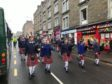 The pipe band parade during a previous Stobsfest Gala Day.
