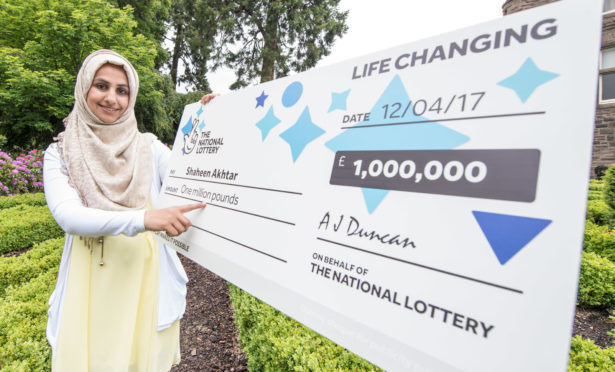Dundee mum-of-three Shaheen Akhtar was one of the city's recent winners. She bagged £1 million in April 2017