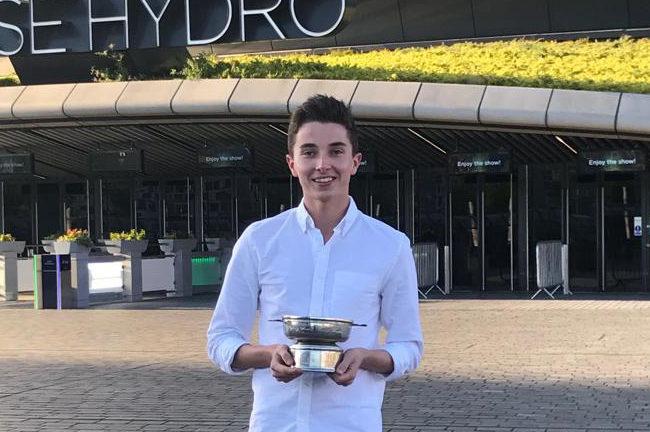 Ryan with his award