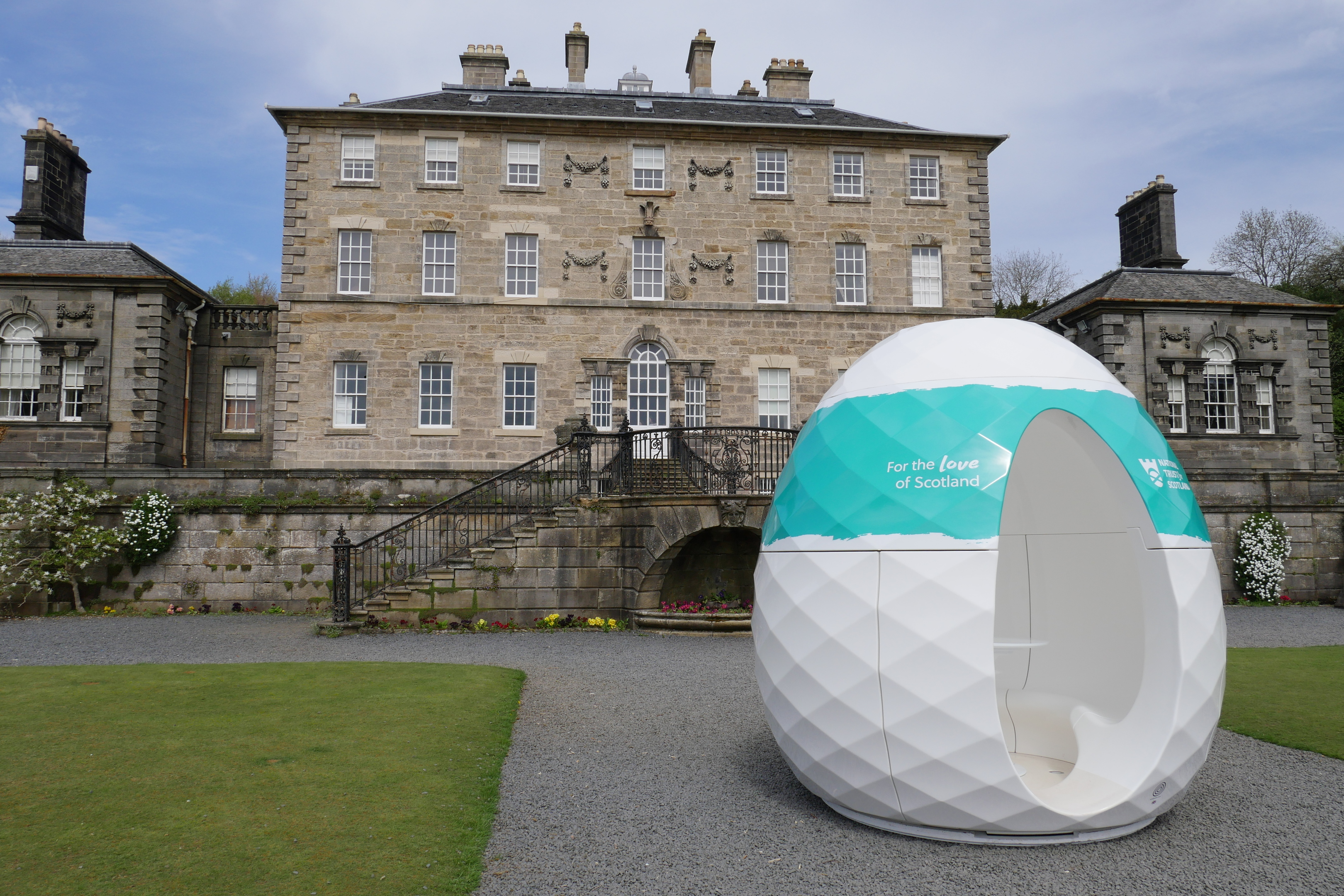 It may resemble something from The Day The Earth Stood Still, but journey to the centre of the pod to find out what people love most about Scotland.