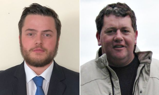 Alexander Stirling (left) admitted causing the death of Douglas Lawie (right) by careless driving.