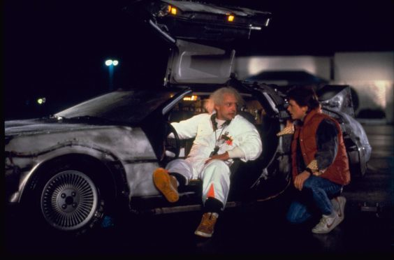 A still from Back to the Future