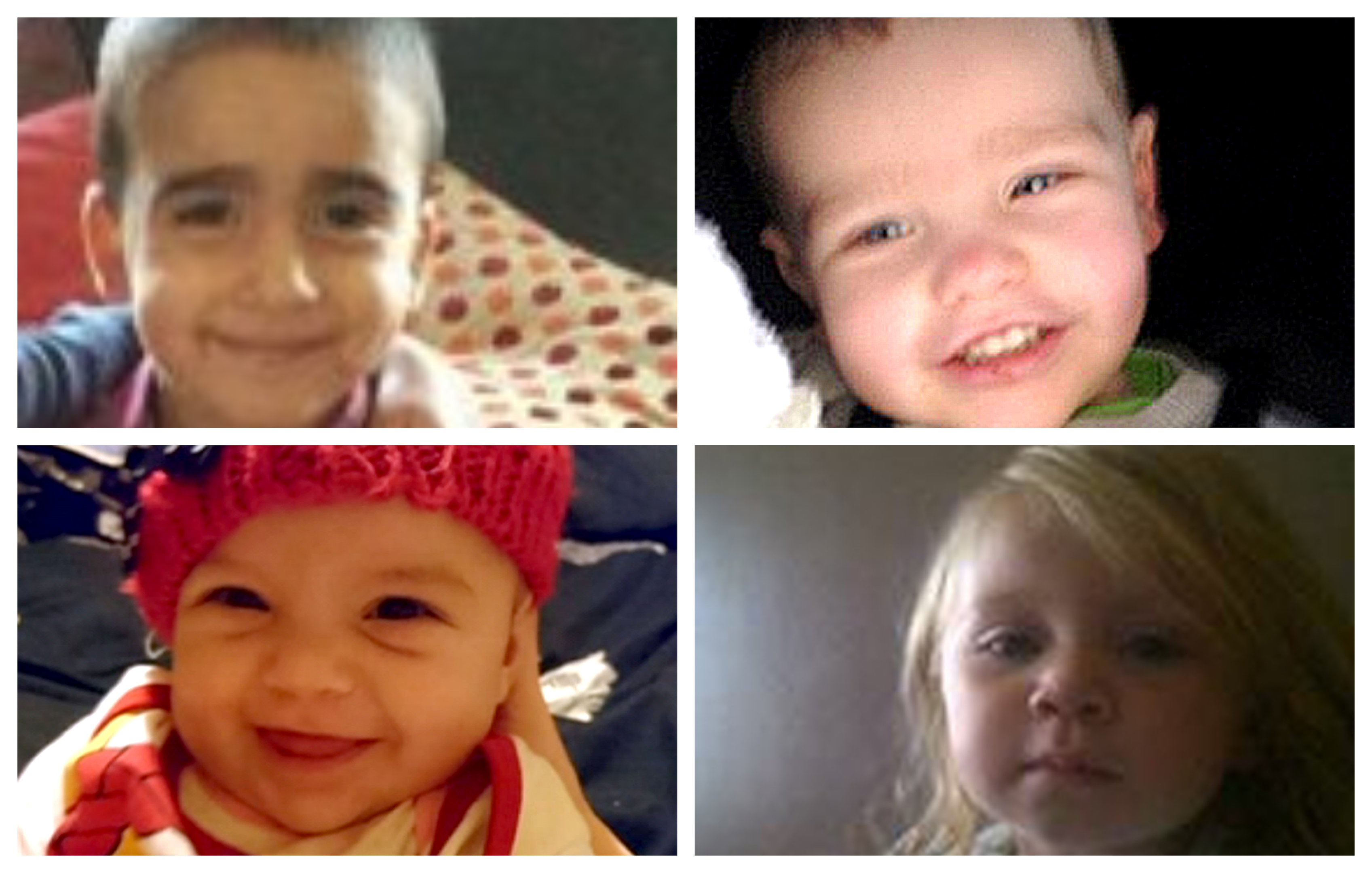 Clockwise from top left: Mikaeel Kular, Liam Fee, Madison Horn and Hayley Davidson.