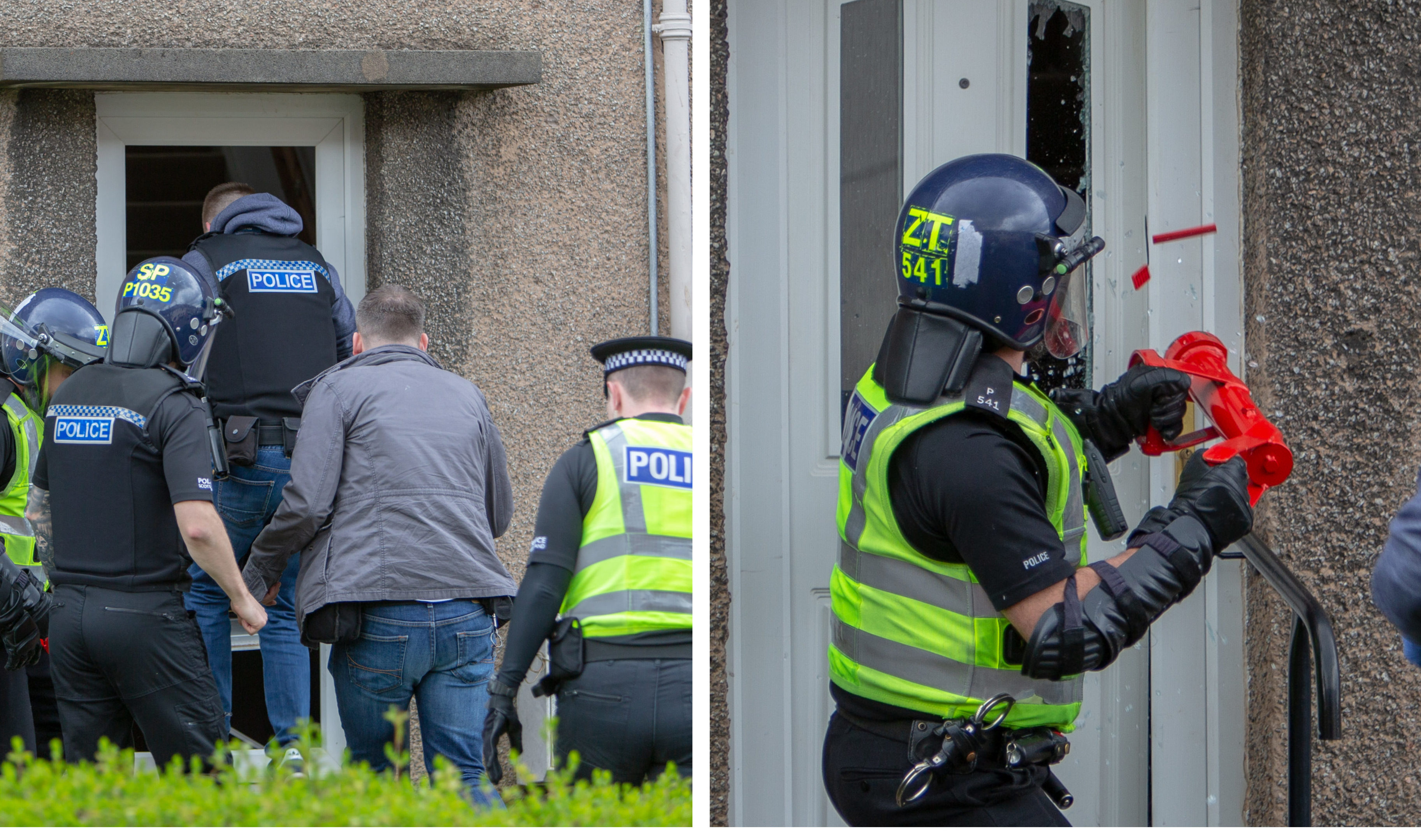 The raid in Kirkcaldy