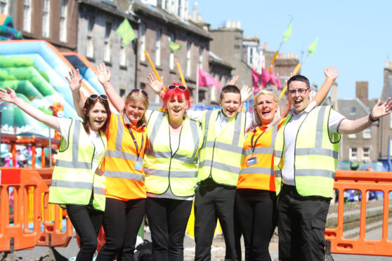 The MoFest health and safety Team Gemma McCombie, Caroline Sweenie, Debbie Merson, Blake O'Neil, Jacqueline Martin and Elliott Russell.