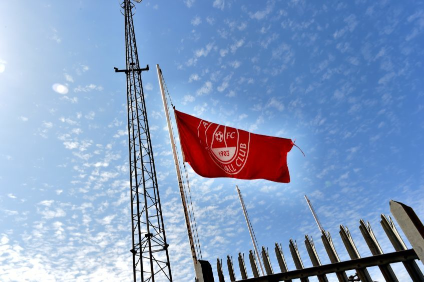 The flags at Pittodrie were at half mast.