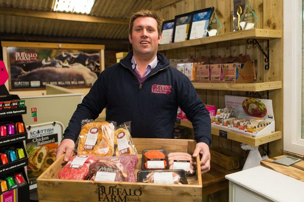 Steven Mitchell in his farm shop