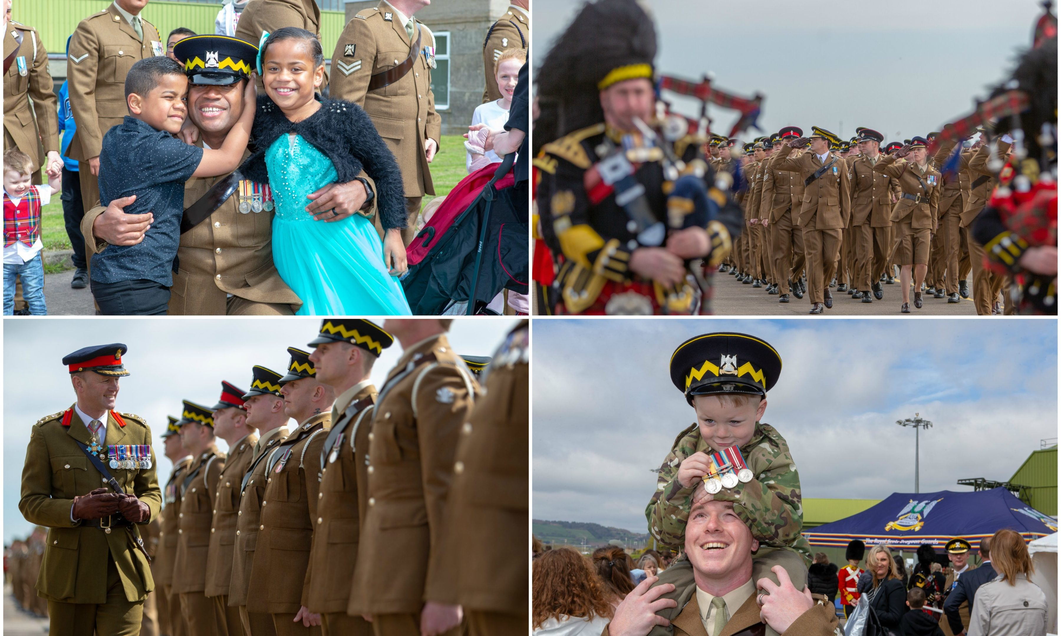 Members of the Royal Scots Dragoon Guards have returned from a six-month tour to maintain peace and stability in Cyprus