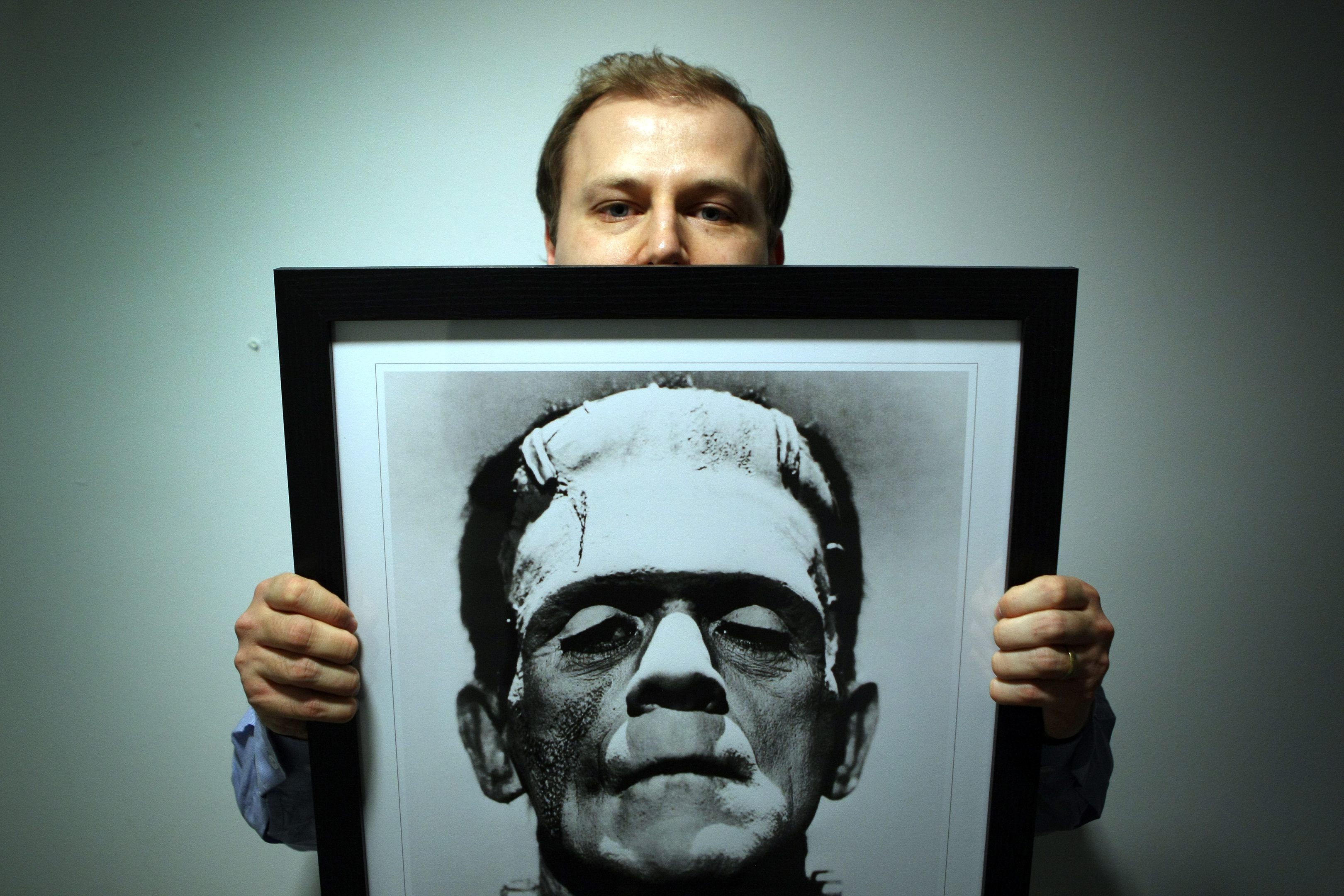 Dr Daniel Cook and monster.