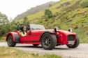 Gayle takes a stunning Caterham Seven owned by self-drive hire company 7ecosse for a spin up Sma' Glen.