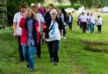 Walkers helped to raise awareness of mental health issues.
