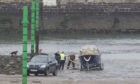 The boat was stranded at Arbroath harbour after the slipway was used against advice