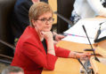 First Minister Nicola Sturgeon during First Minister's Questions at the Scottish Parliament in Edinburgh. PRESS ASSOCIATION Photo. Picture date: Thursday May 31, 2018. See PA story SCOTLAND Questions. Photo credit should read: Andrew Milligan/PA Wire