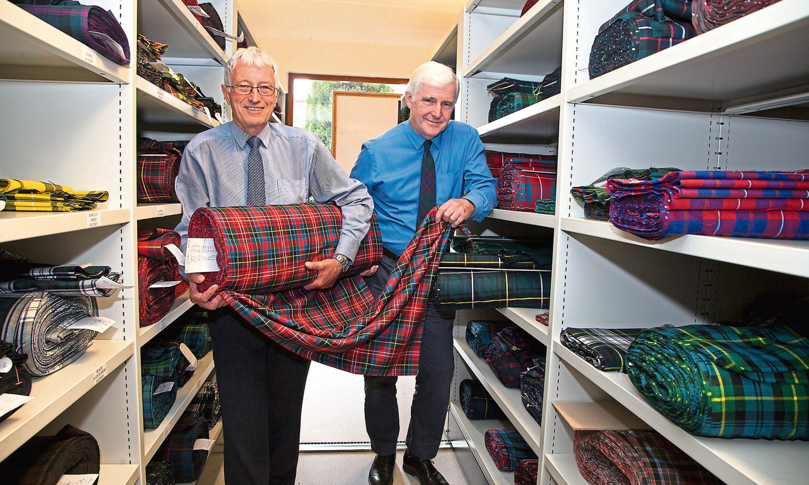 Strathmore Woolen Company directors David Cowley and Jonathan Brown have sold the Forfar tartan firm. Picture: Paul Reid.