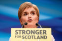 First Minister Nicola Sturgeon delivers her keynote speech to delegates at the Scottish National Party's spring conference at the Aberdeen Exhibition and Conference Centre (AECC), Aberdeen. PRESS ASSOCIATION Photo. Picture date: Saturday June 9, 2018. See PA story POLITICS SNP. Photo credit should read: Jane Barlow/PA Wire
