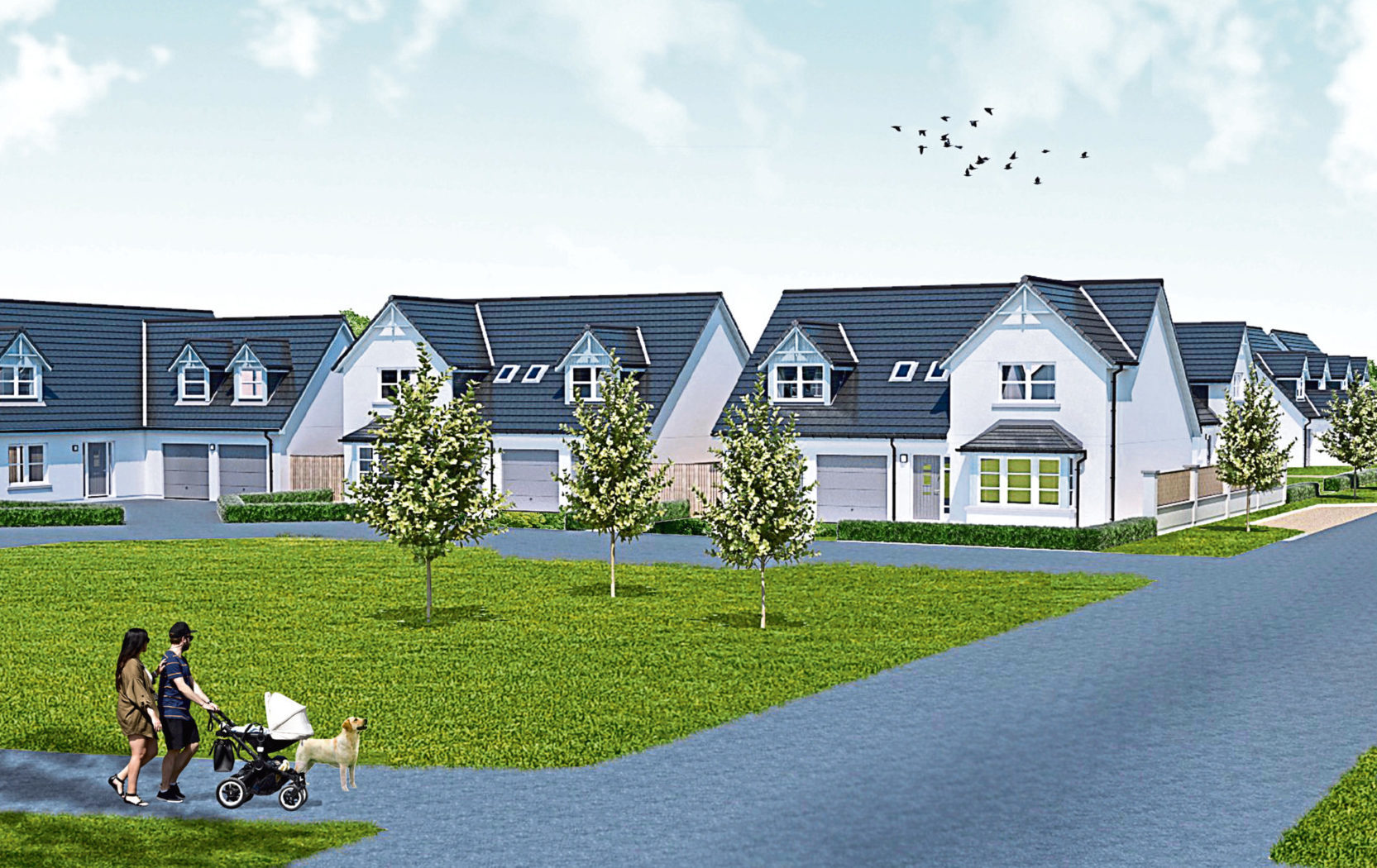 An artist's impression of the housing proposal.