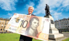 CYBG CEO David Duffy launches the new polymer Clydesdale  £10 note featuring Rabbie Burns last year.