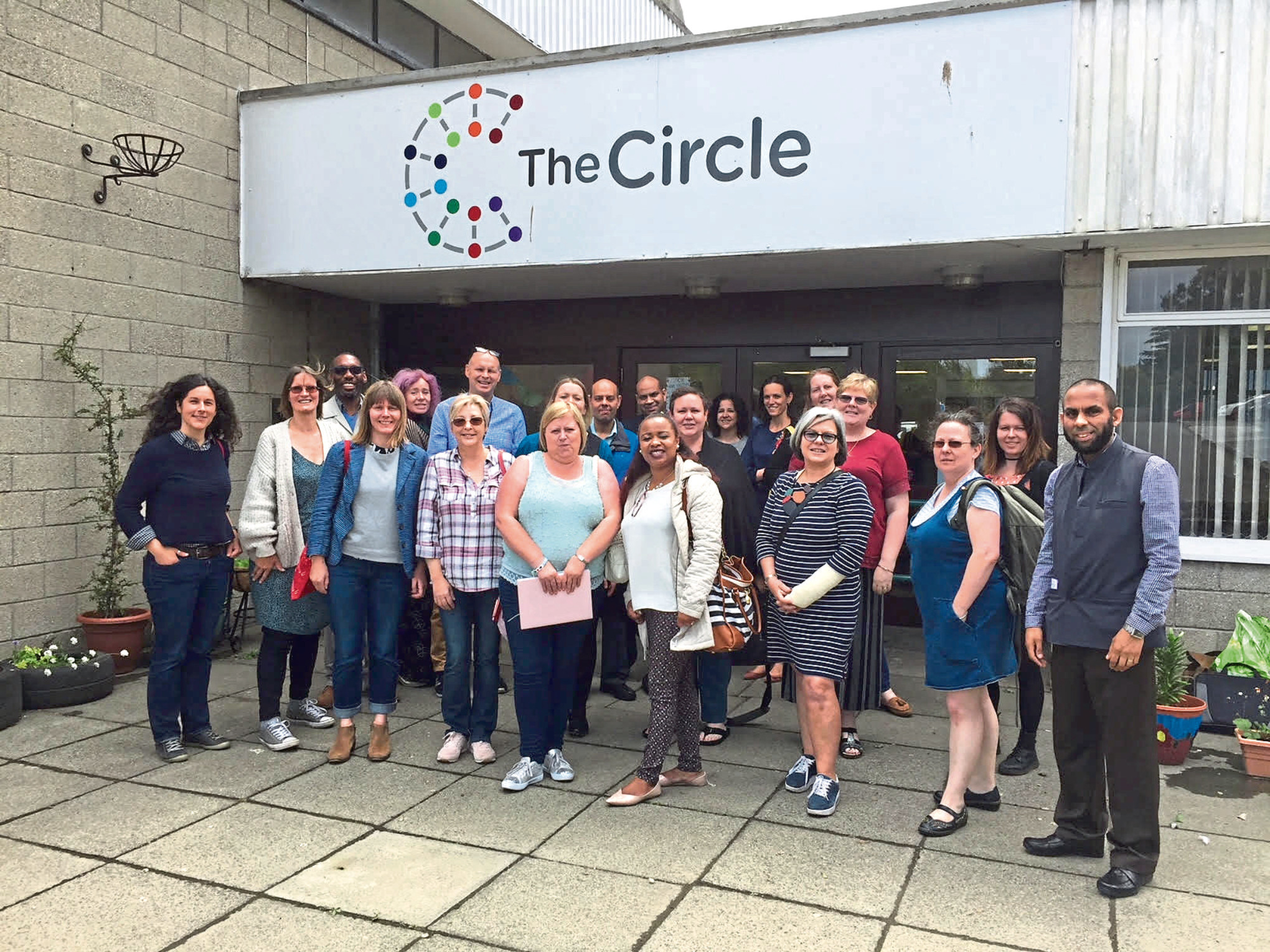 Social entrepreneurs visit The Circle in Dundee.