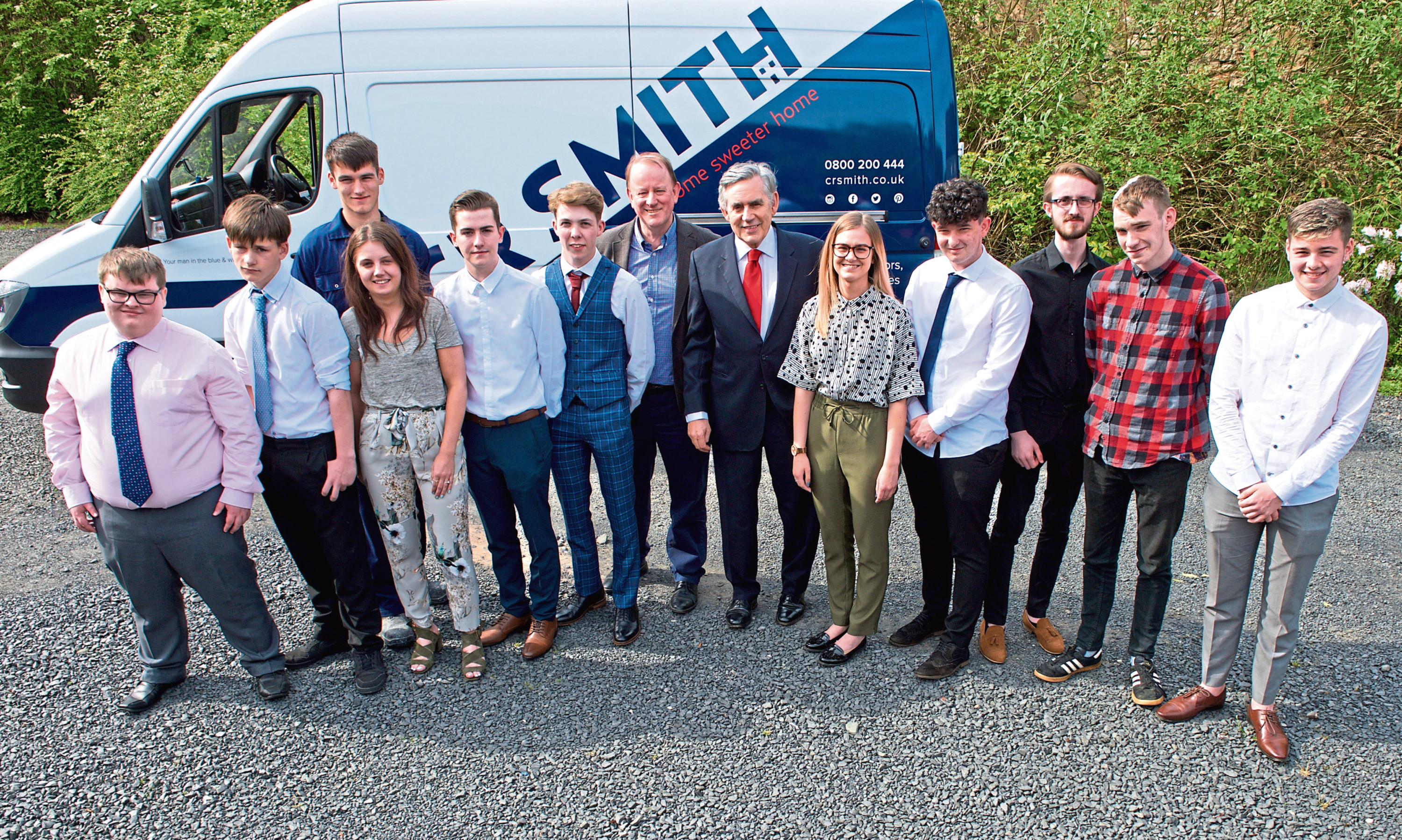 Former Prime Minister Gordon Brown recently visited a CR Smith-run Academy to show his support for the Hand Picked programme.