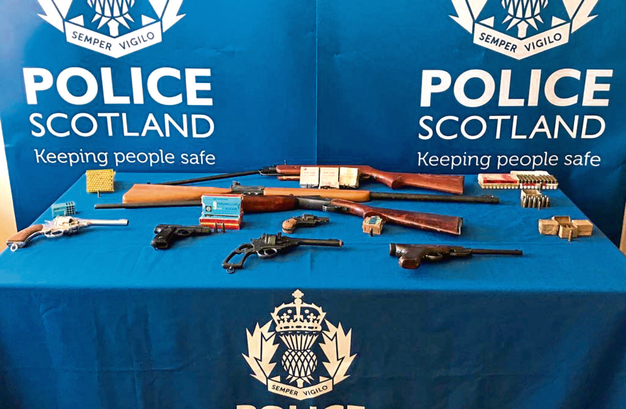 Guns and ammunition at launch of Firearms Surrender Campaign 2018