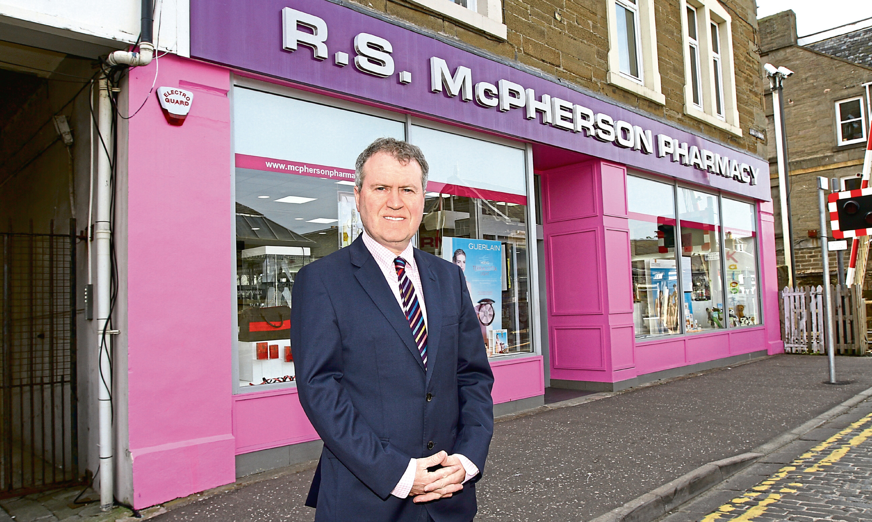 Davidsons managing director Allan Gordon outside new acquisition, RS McPherson of Broughty Ferry