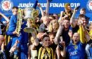 Auchinleck Talbot lift the Scottish Junior Cup last month.