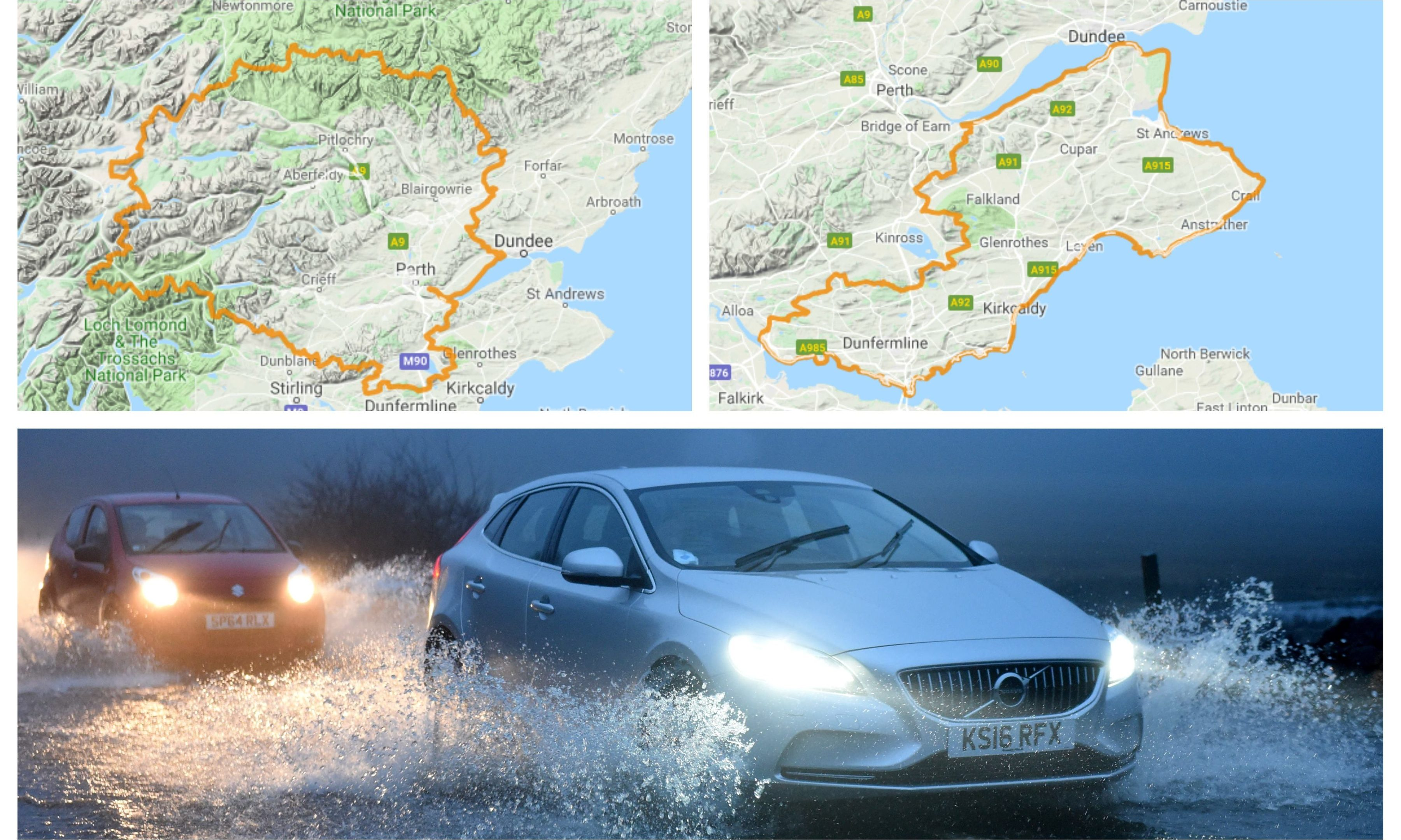Flood alerts are in place for Tayside and Fife