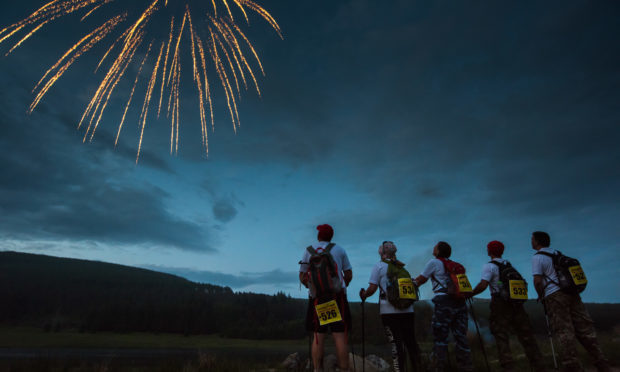 The annual Cateran Yomp event saw 893 soldiers and civilians walking side by side on a 24-hour trek across the historic 'Cateran Trail' in Perthshire finishing in the early hours of Sunday to raise money for ABF The Soldiers' Charity.