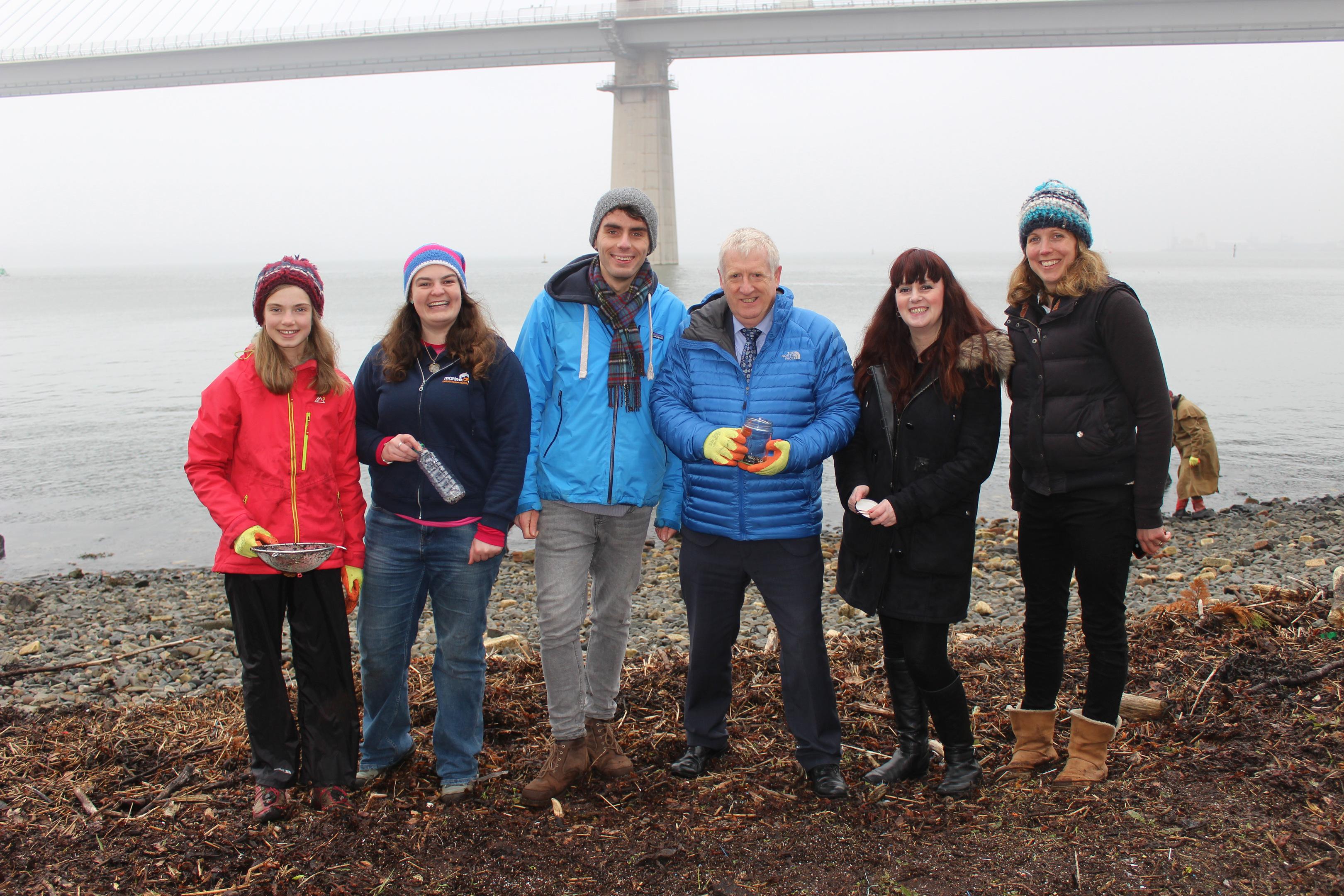 Douglas Chapman MP with volunteers during the recent nurdle hunt.