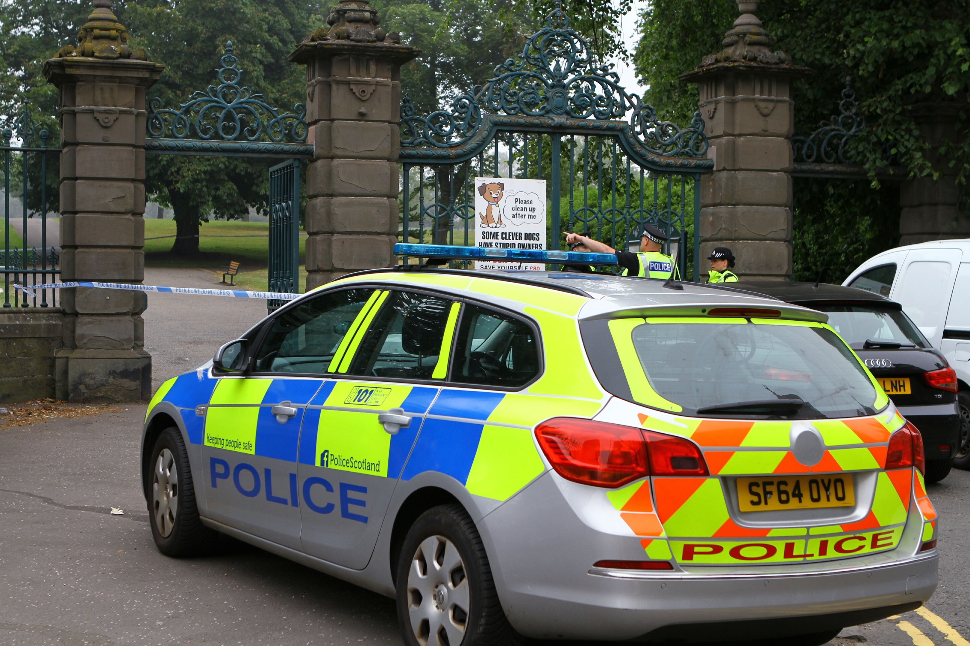 Police sealed off Baxter Park following the attack last week.