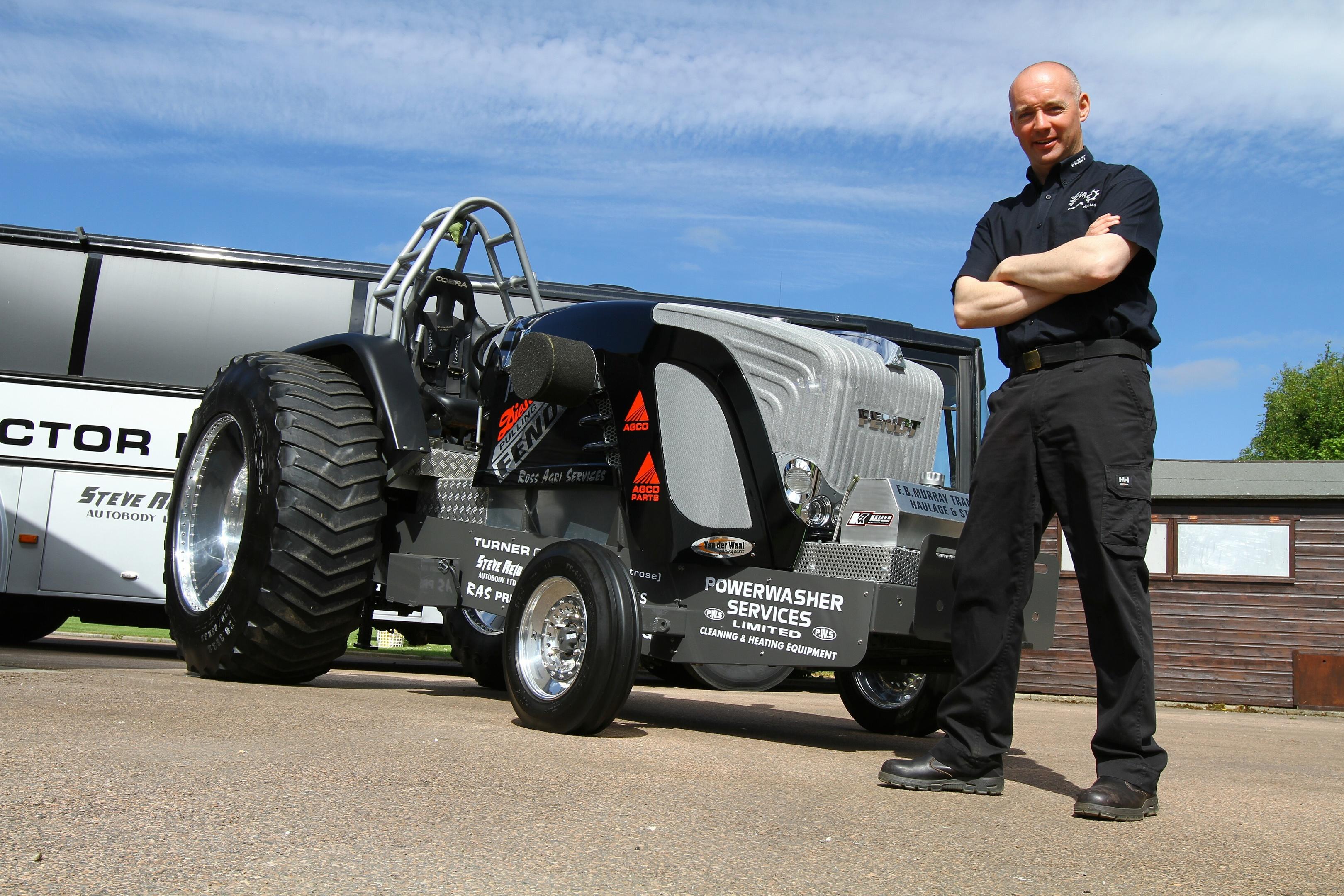 """Martin Ross beside his Fendt 612 LSA tractor """"Dieselross"""""""