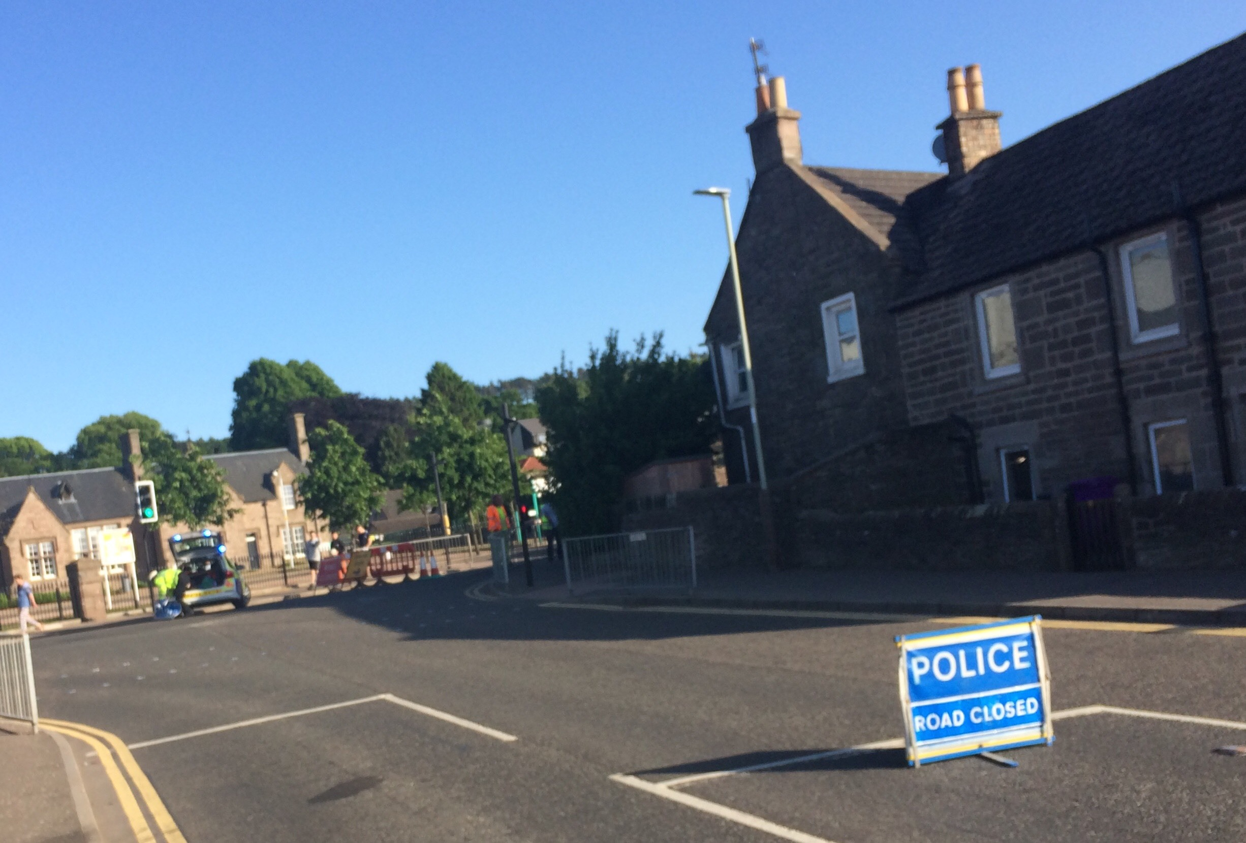 The road remained closed for several hours