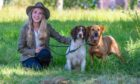 Rachael Griffin (24) from Glasgow with gun dogs Wolf the Springer Spaniel and Nala the Red Labrador.
