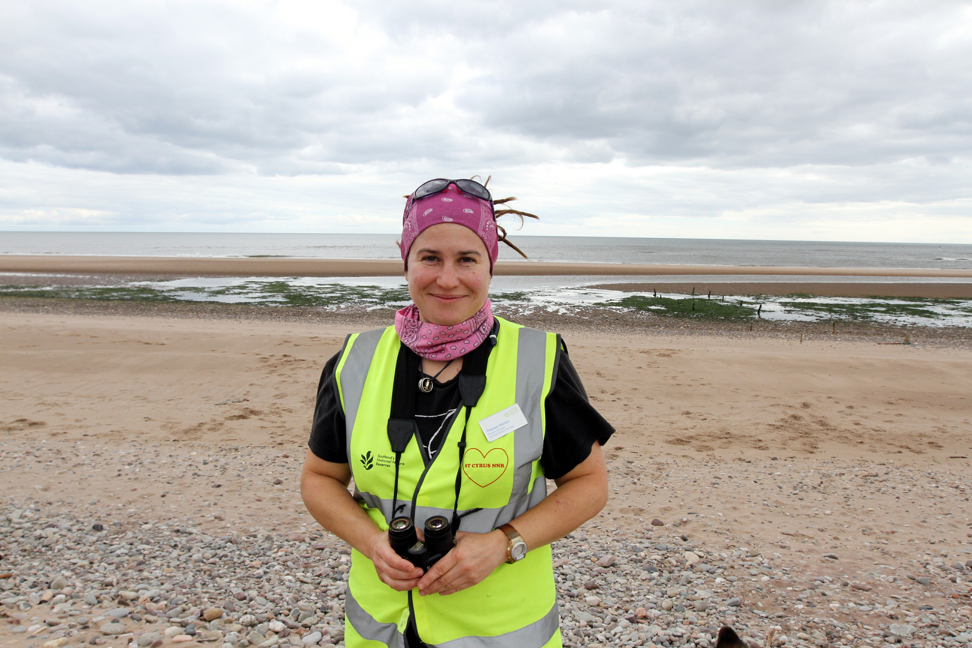 St Cyrus nature reserve manager Therese Alampo
