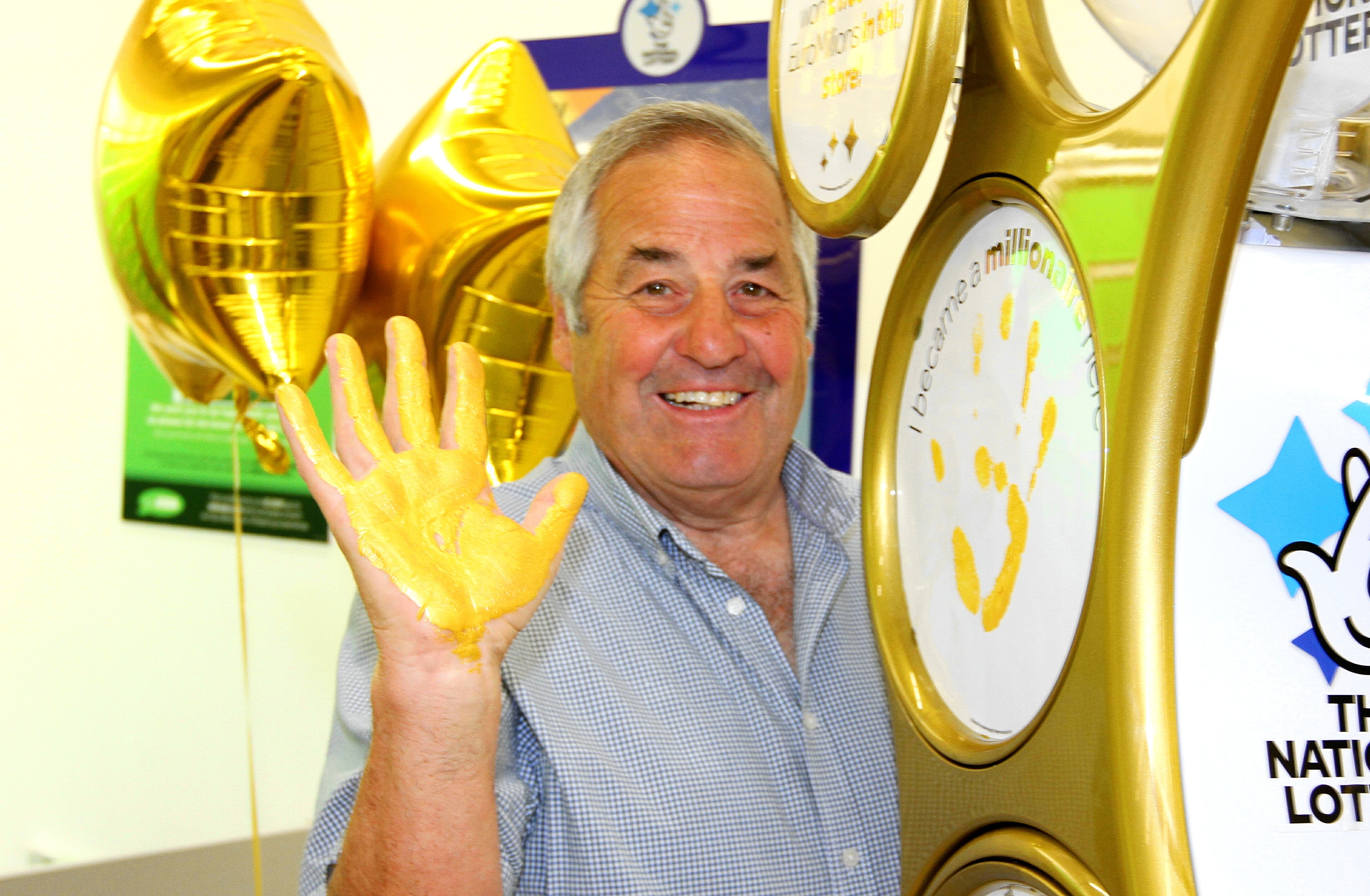 Lottery winner Raymond Storey was at Asda Myrekirk to launch the new gold playstation.