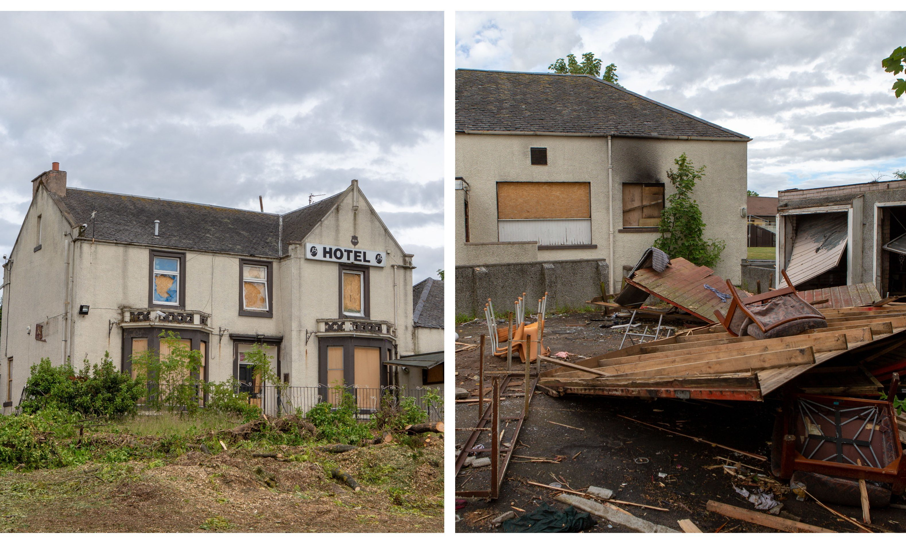 Photos show the state of Brannigans Hotel, Leven.