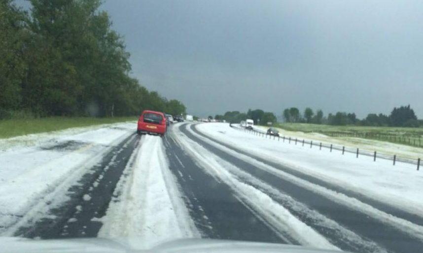 Hail storms at Dunblane