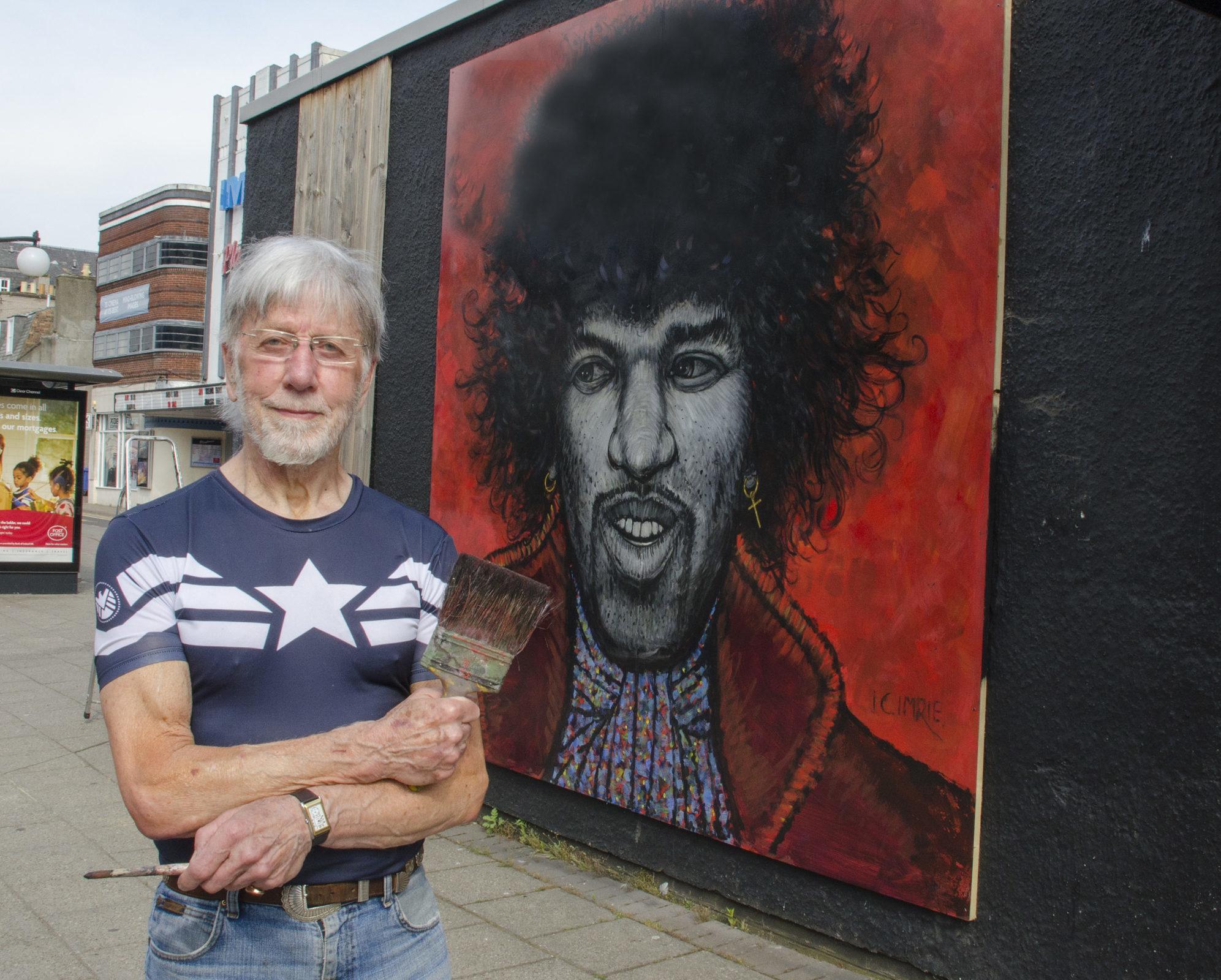 Artist Ian Imrie.