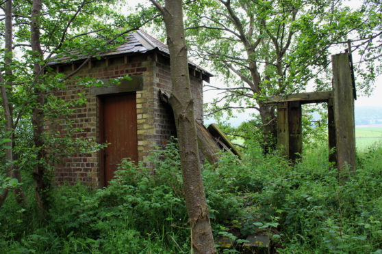 An old railway hut at Ardler Junction.